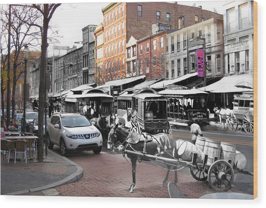 Market Street In Old City Wood Print