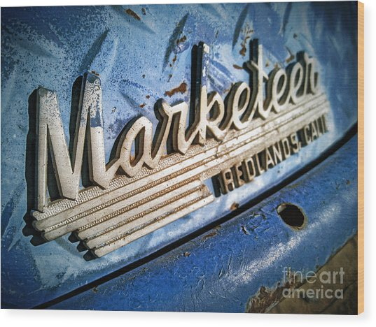Marketeer Wood Print by Pam Vick