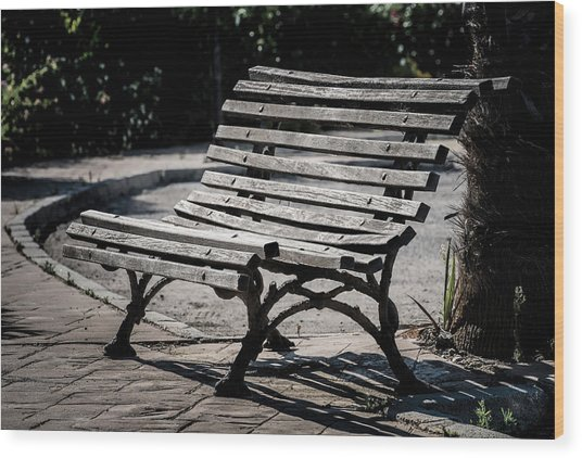 Mark's Bench Wood Print