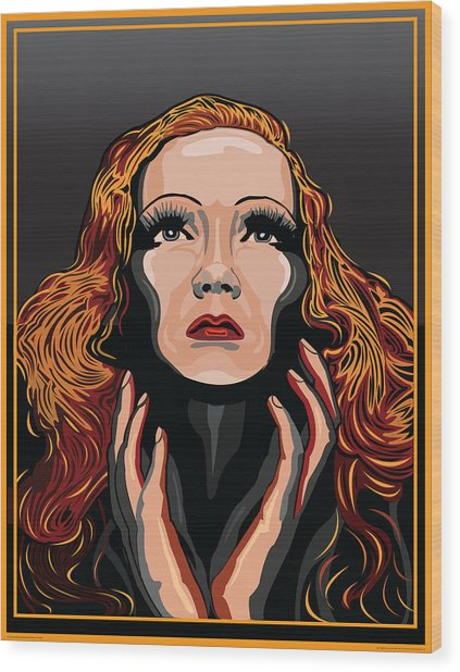 Marlene Dietrich Hollywood The Golden Age Wood Print by Larry Butterworth