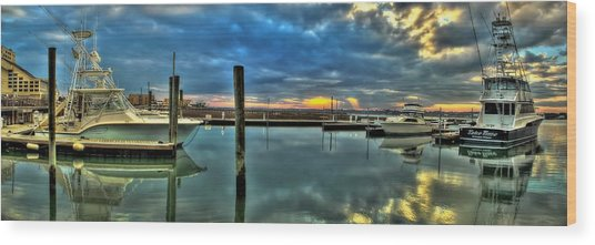 Marlin Quay Marina Wood Print