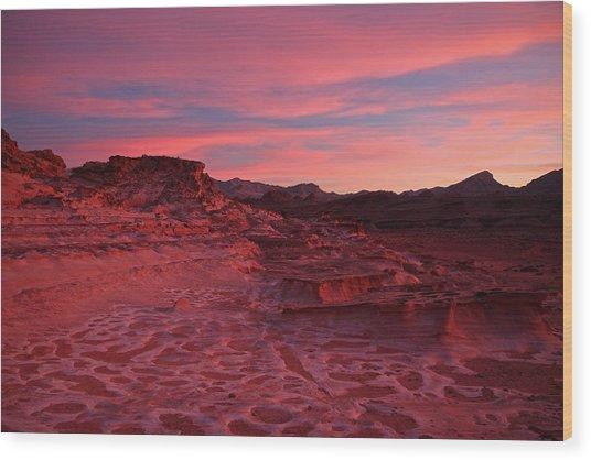 Mars In Nevada Wood Print
