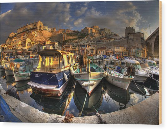 Marseille Wood Print by Karim SAARI