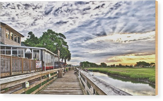 Marsh Walk 1 - Murrells Inlet Wood Print