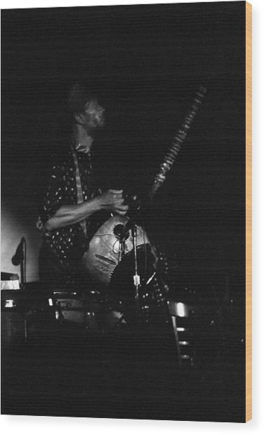 Marshall Allen Plays Strings  Wood Print