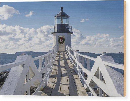 Marshall Point Light Wood Print