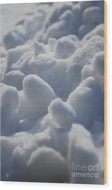 Marshmallow Mounds Wood Print by Susan Hernandez