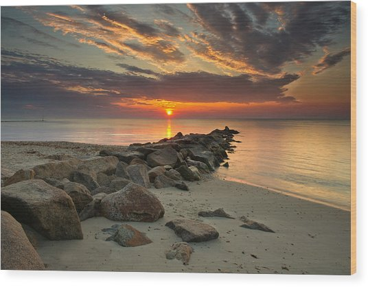 Marthas Vineyard Sunrise Wood Print