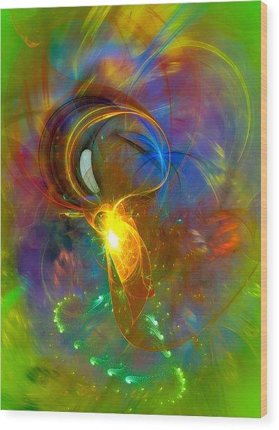 Martian Dance - Cool Alien Art Wood Print