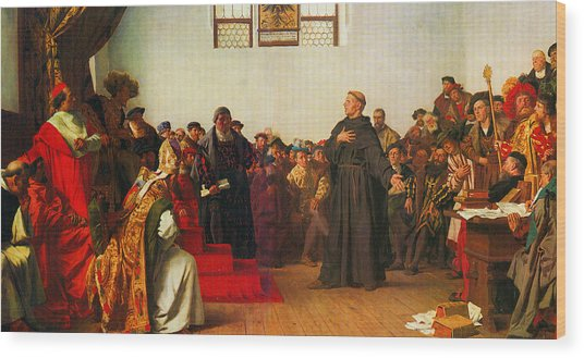 Martin Luther Before The Diet Of Worms Wood Print