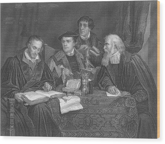 Martin Luther  The German Religious Wood Print by Mary Evans Picture Library