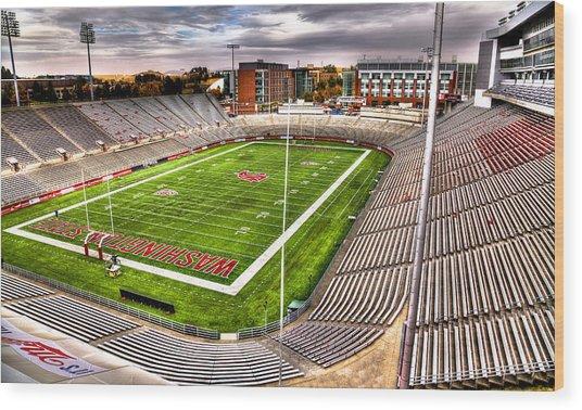Martin Stadium At Washington State Wood Print