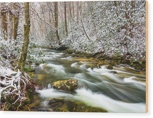 Martins Fork Winter Wood Print
