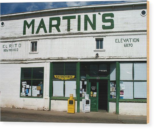 Martin's Wood Print