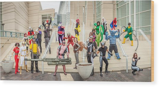Marvel Universe C2e2 2013 Wood Print by Andreas Schneider