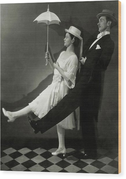 Mary Hay And Clifton Webb Dancing Wood Print