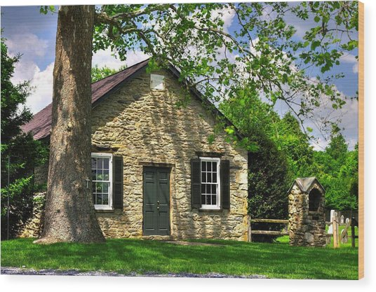 Maryland Country Churches - Fairview Chapel-1a Spring - Established 1847 Near New Market Maryland Wood Print