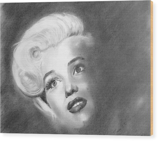 Marilyn- In The Shadows Wood Print