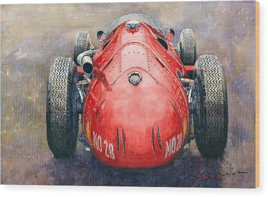 Maserati 250f Back View Wood Print