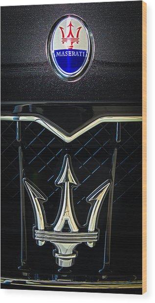 Maserati Badge Wood Print