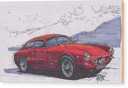 Maserati Zagato Wood Print