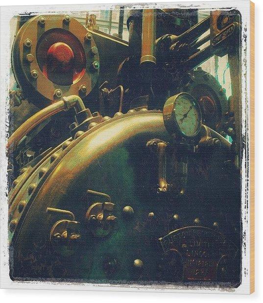 #mashines ... #steamengine #engine Wood Print