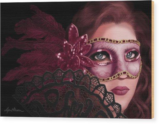 Masked I Wood Print