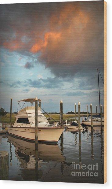 Masonboro Sunset #2 Wood Print