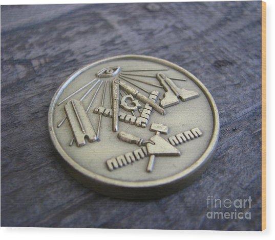 Masonic Medal Wood Print