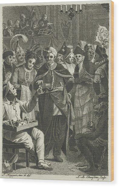 Masquerade, Lambertus Antonius Claessens Wood Print
