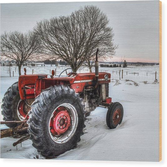Wood Print featuring the photograph Massey Ferguson 165 by Garvin Hunter