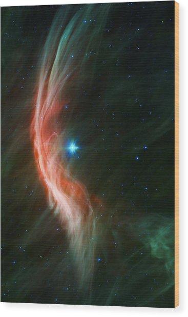 Massive Star Makes Waves Wood Print
