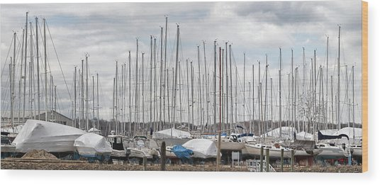Glen Cove Mast Appeal Wood Print