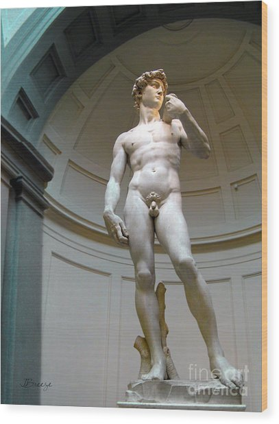 Masterpiece David.florence Wood Print