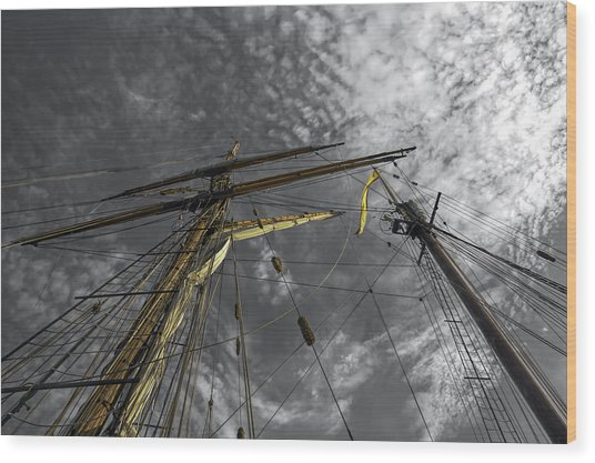 Masts And Rigging Wood Print