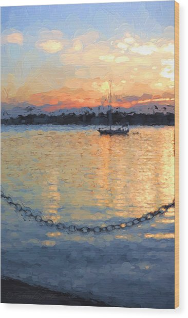 Matanzas Summer Sunrise Wood Print