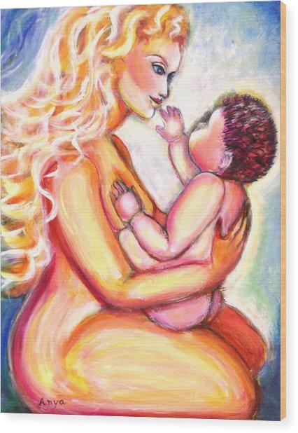 Maternal Bliss Wood Print