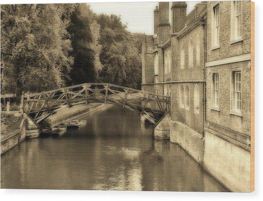 Mathematical Bridge Wood Print