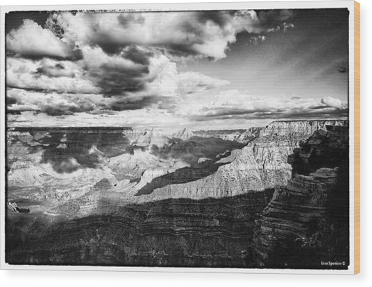 Clouds View From Mather Point  Wood Print by Lisa  Spencer