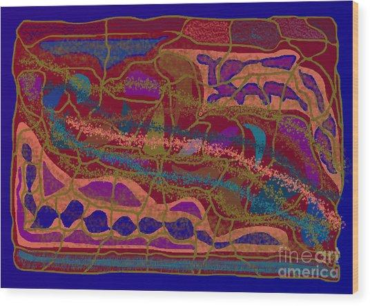 Matrix Wood Print by Meenal C