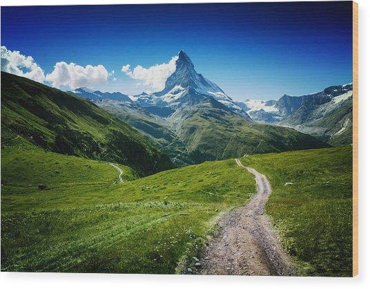 Matterhorn II Wood Print by Juan Pablo De