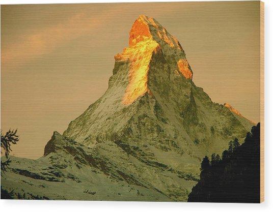 Matterhorn In Switzerland Wood Print