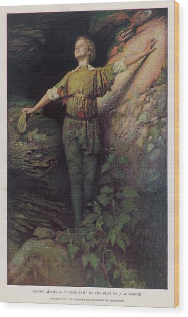 Maude Adams  Actress, As Peter Pan Wood Print by Mary Evans Picture Library