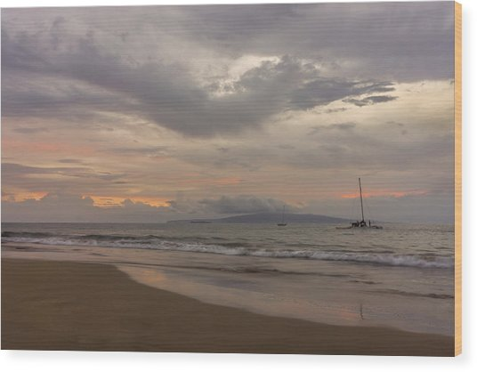 Maui Beach Wood Print