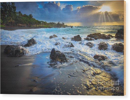 Maui Dawn Wood Print