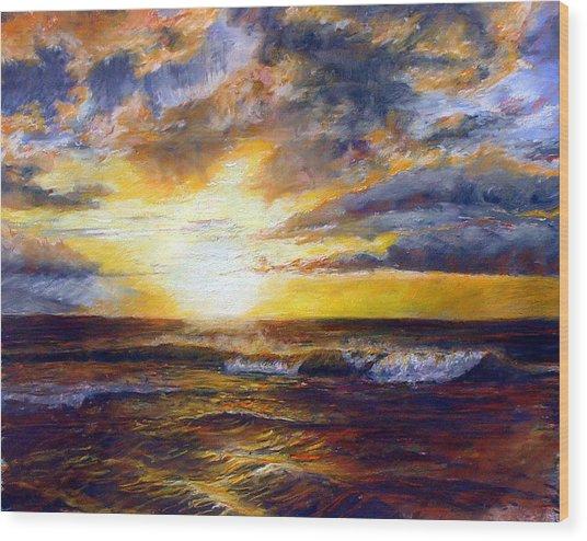 Maui Gold Wood Print