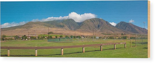 Maui Hawaii Mountains Near Kaanapali   Wood Print