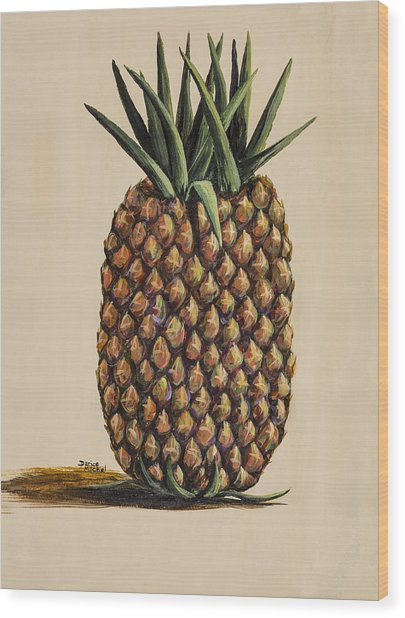 Maui Pineapple 3 Wood Print