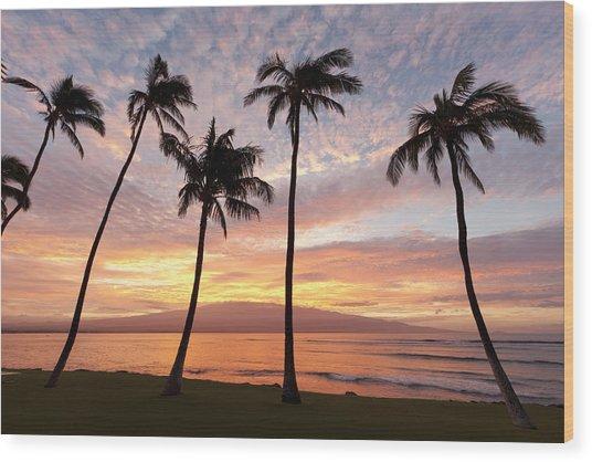 Maui Sunrise Wood Print