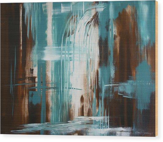 Waterfall In Paradise Wood Print
